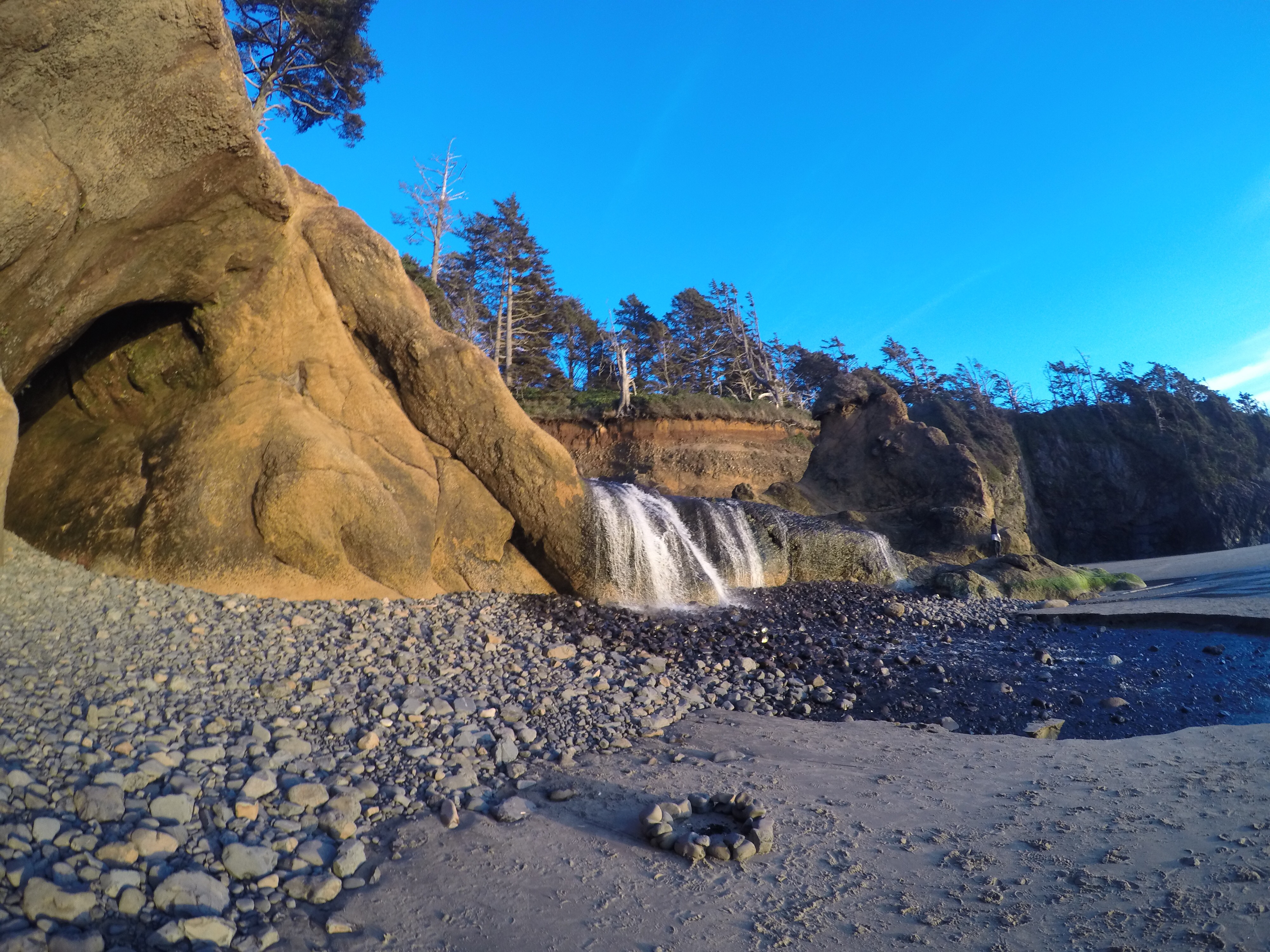 Chasing waterfalls wanderlust travel nurse make sure to check the tide charts before going to hug point the tide has to be low for you to walk to the falls or you can walk through hip deep nvjuhfo Image collections